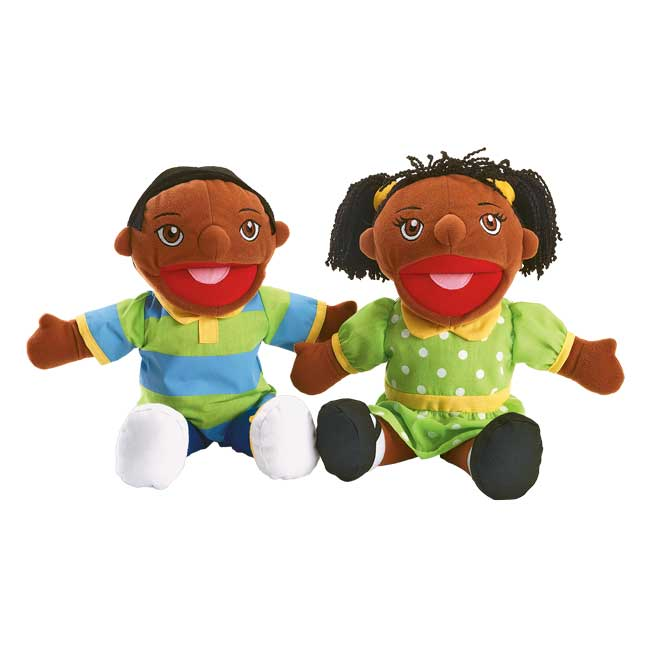 Excellerations African American Girl and Boy Puppet Pair - 1 pair