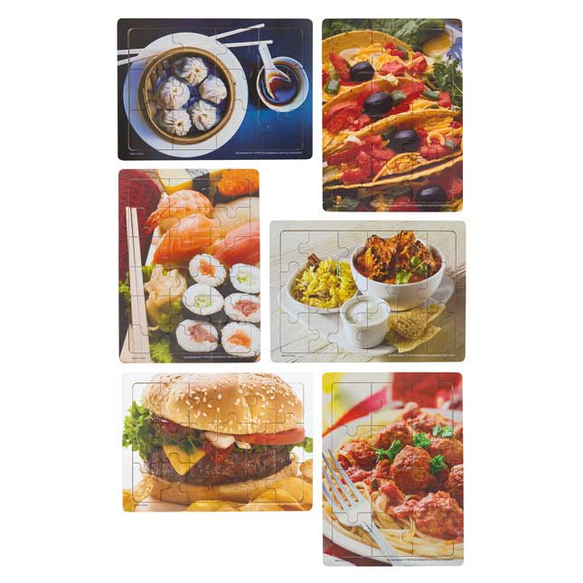 Excellerations Multicultural Food Puzzles   Set of 6