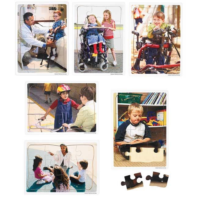 Excellerations Inclusion Puzzles   Set of 6