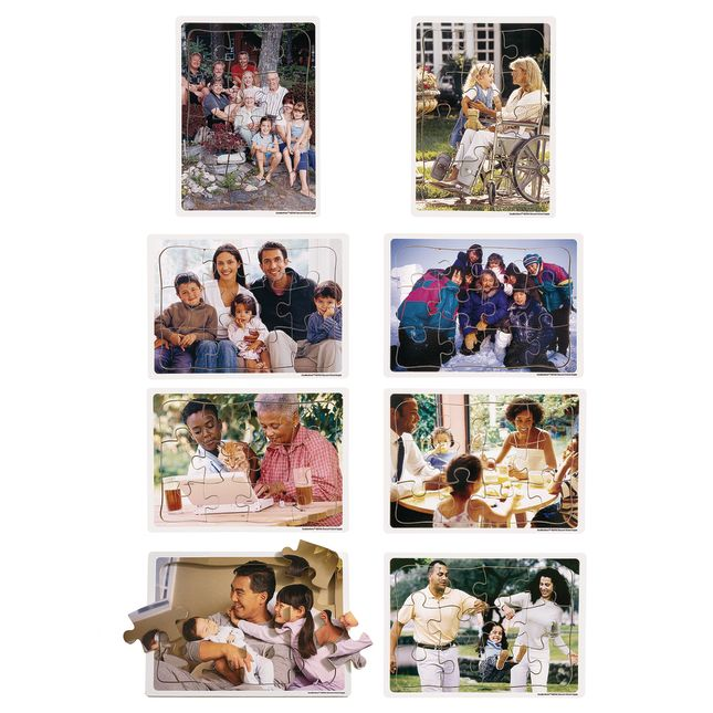 Excellerations Multicultural Family Puzzles   Set of 8