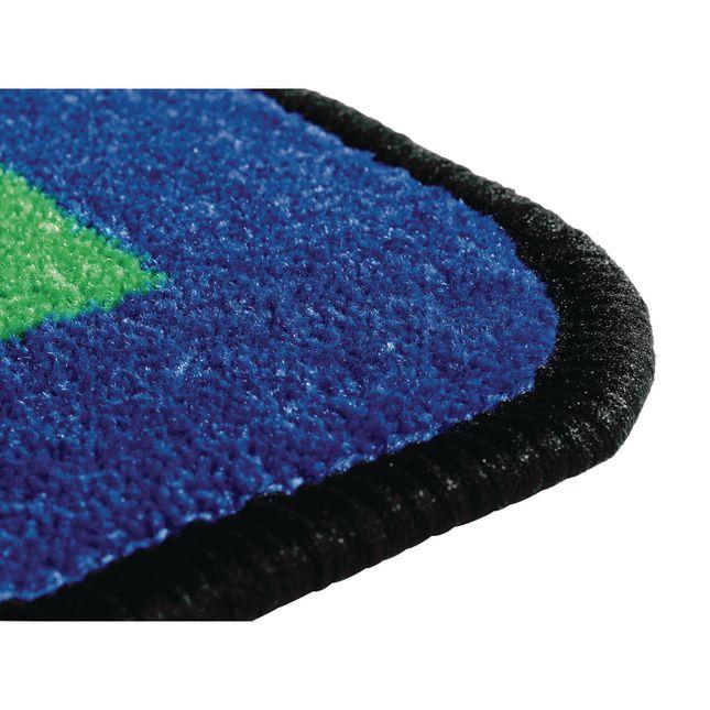 Geometric Shapes Carpet   6  x 12  Semi Circle