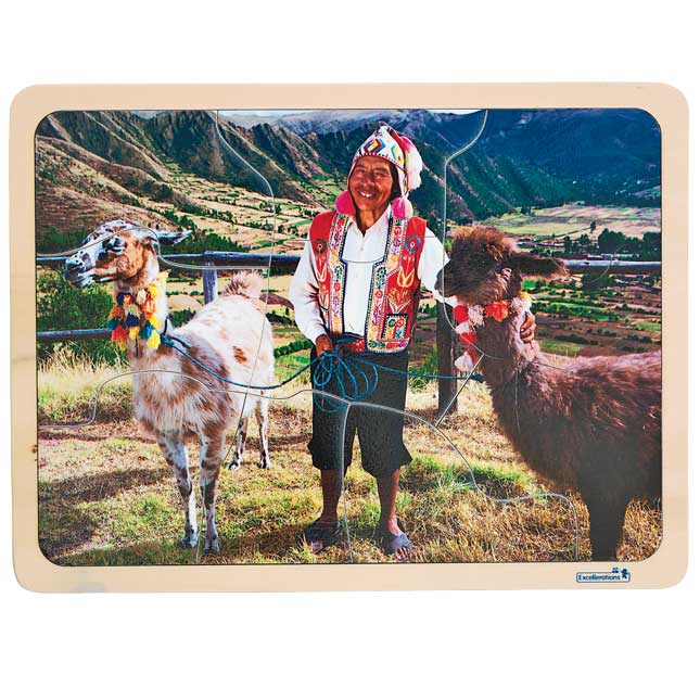Excellerations Photographic Multi Cultural World Puzzles   Set of 9