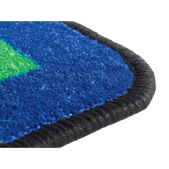Geometric Shapes Carpet   5 10  x 8 5  Rectangle