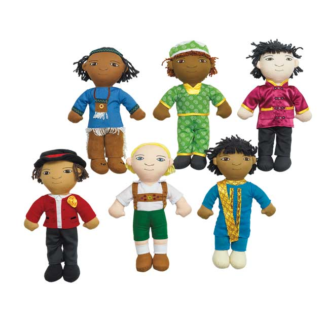 Excellerations World Friend Dolls   Set of 6 Boys