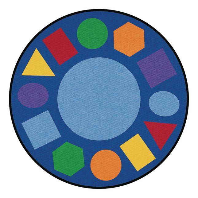 Geometric Shapes Carpet   6 6  Round
