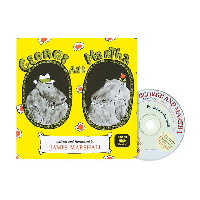 George and Martha Book and CD - 1 book and CD