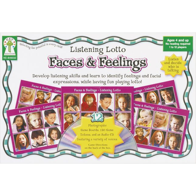 Listening Lotto Game - Faces and Feelings - 1 game