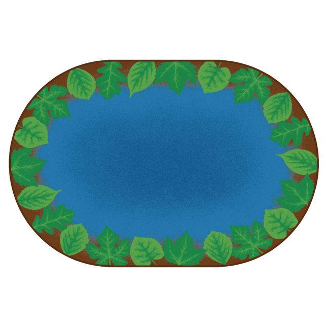 Medium Harmony Leaf Places Carpet   6  x 9  Oval