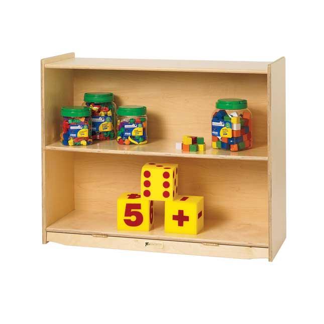 """MyPerfectClassroom 36""""W Straight Shelf Mobile Storage - 1 storage"""