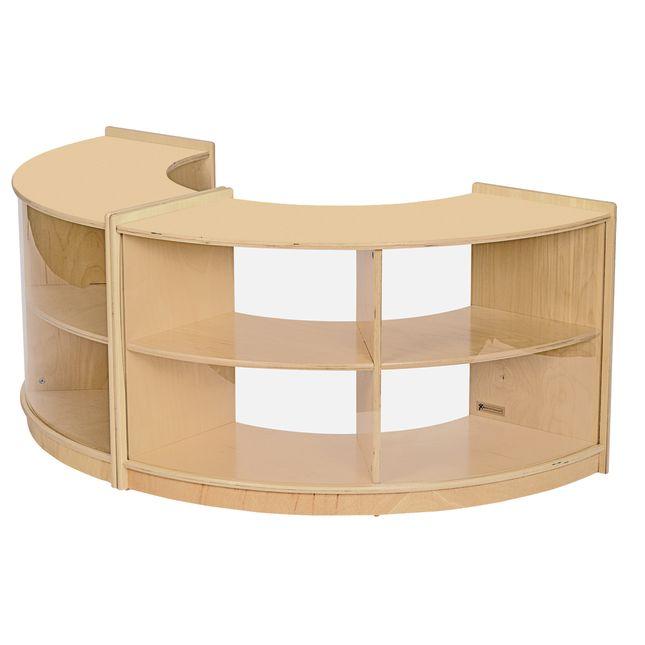 MyPerfectClassroom Curved Storage Unit - 1 storage