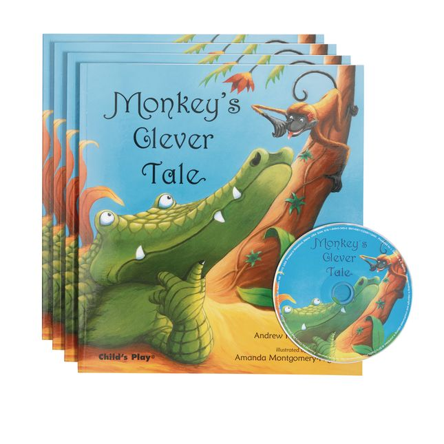 Monkey's Clever Tale  4 Paperback Books and 1 CD - 4 books and 1 CD