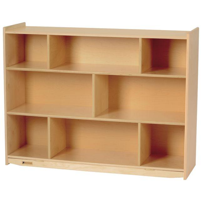 "MyPerfectClassroom 36""H Divided Shelf Mobile Storage - 1 storage"