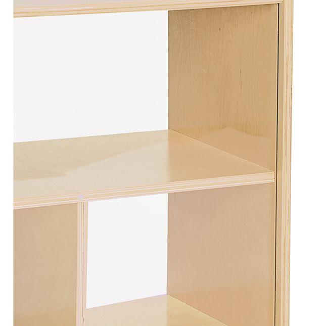 MyPerfectClassroom Toddler 2-Shelf Storage with Clear Back - 1 storage