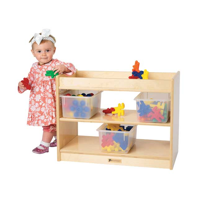 MyPerfectClassroom Toddler Mini Tray Storage with Clear Back - 1 storage