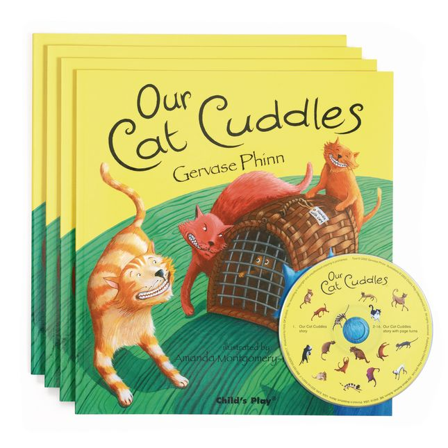 Our Cat Cuddles   4 Paperback Books and 1 CD