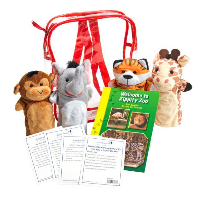 Preschool Family Engagement Kit-  Zoo - 1 multi-item kit