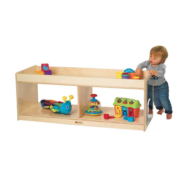 MyPerfectClassroom Toddler Storage With Clear Back and Mirrors - 1 storage