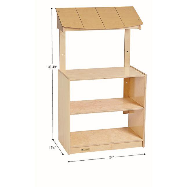 MyPerfectClassroom VersaSpace Adjustable Awning 2-Shelf Cabinet - 1 cabinet