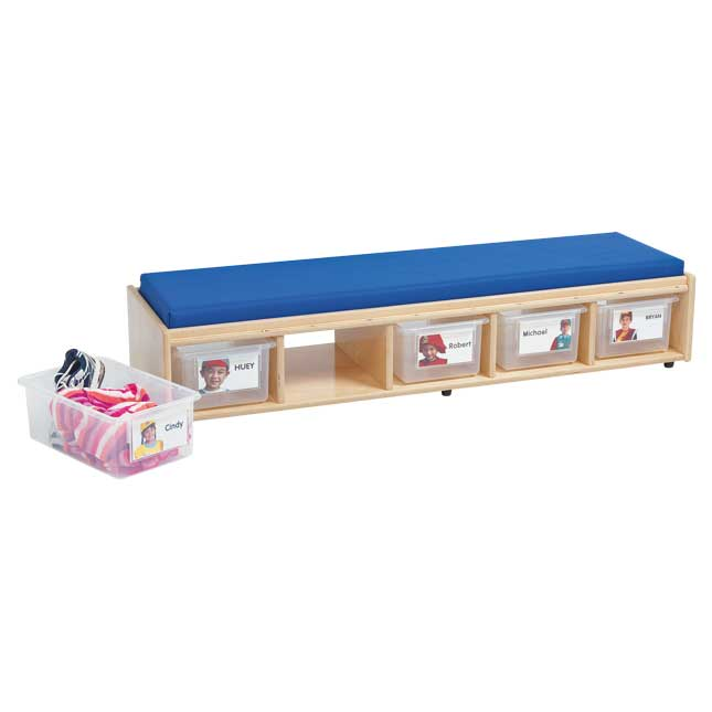MyPerfectClassroom VersaSpace Double Sided Bench Seating with Storage - 1 storage