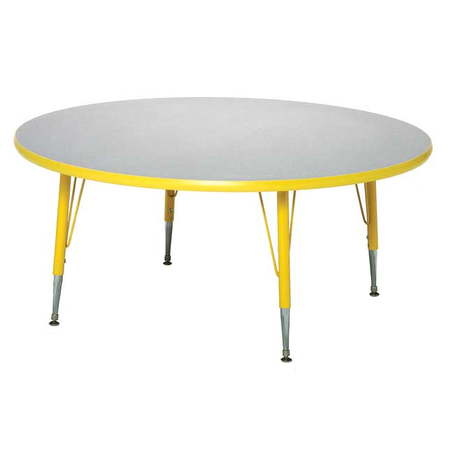 """Red 18-25""""H, 48"""" Round Scholar Craft Activity Table - 1 table"""