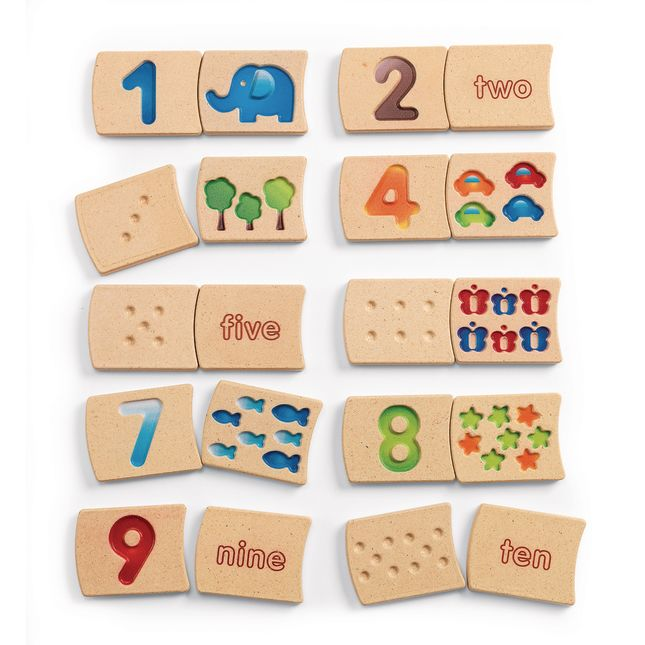 Numbers 1-10 Tracing Tiles - 20 tiles