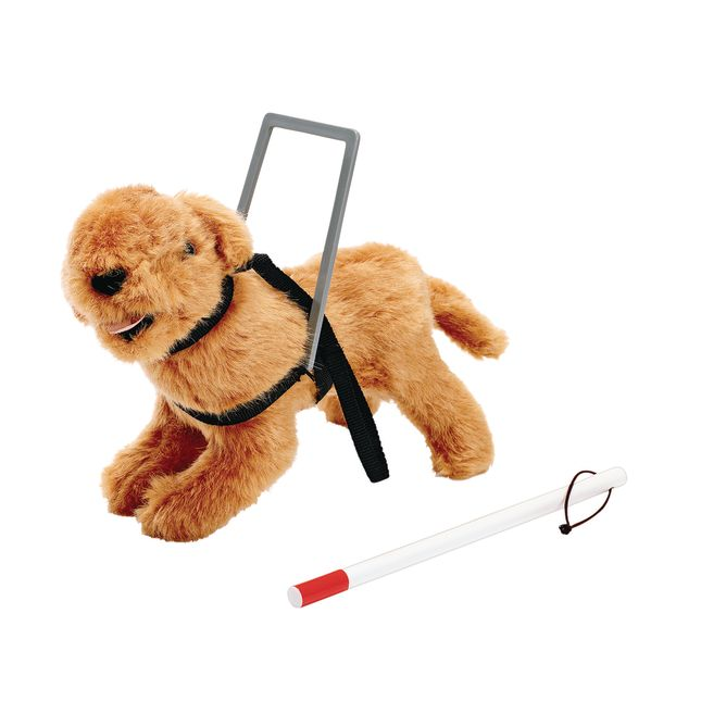 Seeing Eye Dog and Cane for Toddler Dolls - 1 doll