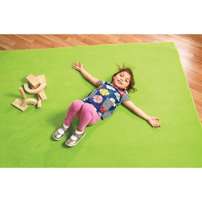 "Solid Color Carpet - Light Green 5'10"" x 8'5"" Rectangle - 1 carpet"
