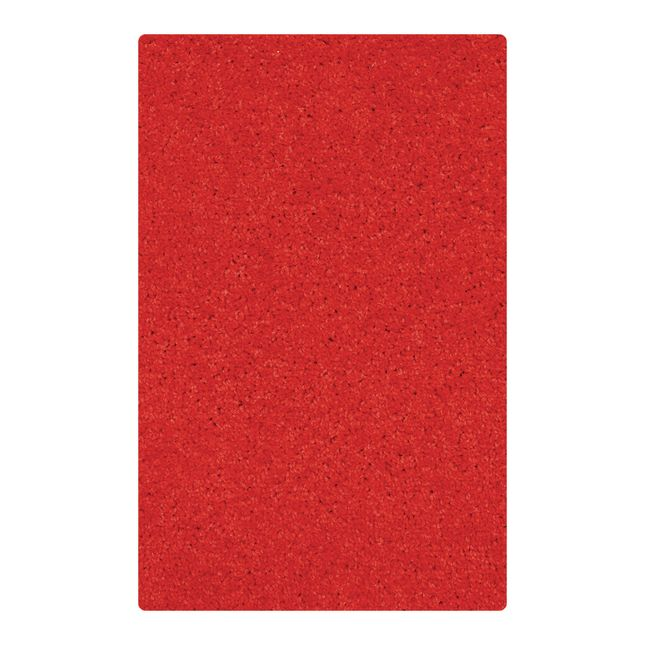 "Solid Color Carpet - Red 5'10"" x 8'5"" Rectangle - 1 carpet"