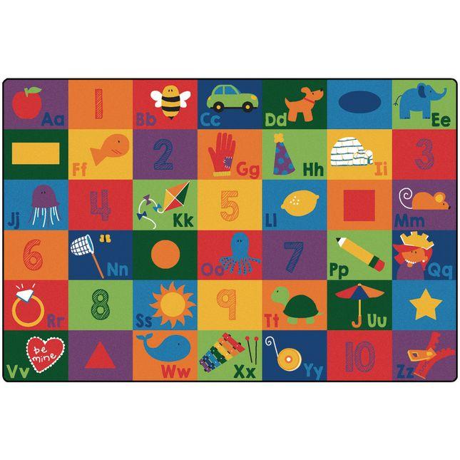 Sequential Seating Literacy 8' x 12' Rectangle Premium Carpet - 1 carpet