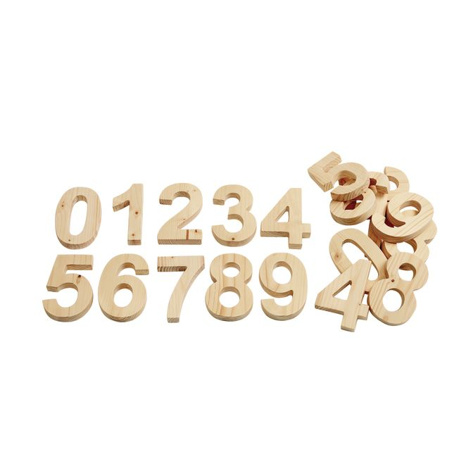 Solid Wood Numbers 0 9 2 Sets