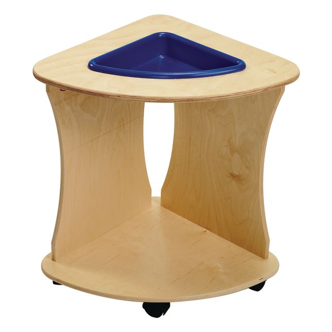 Value Line Birch Sensory Tables Triangle - 1 table