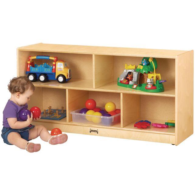 Toddler Mobile Shelving Unit - 1 shelf