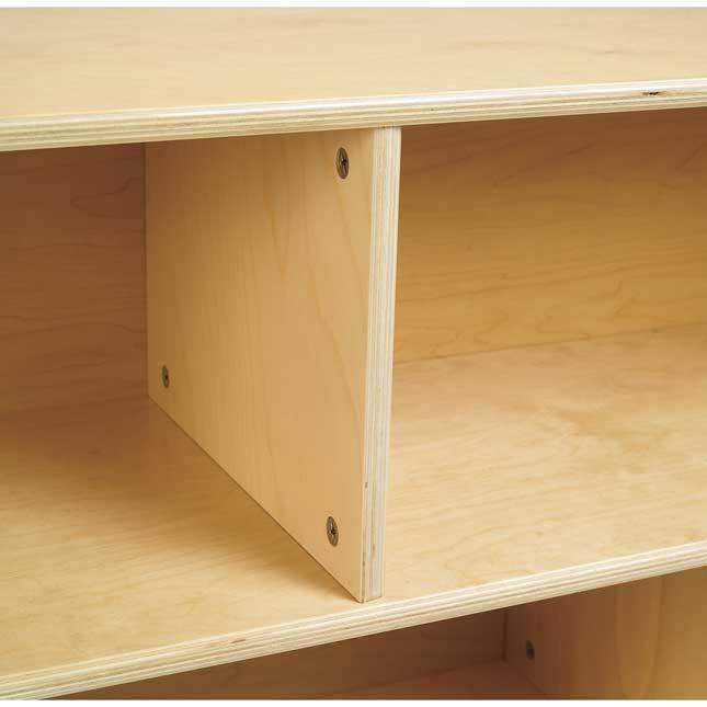 Value Line Birch Tray Storage   36 H With Trays