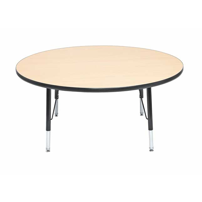 """Wood Top 22-30""""H, 48"""" Round Scholar Craft Activity Table - 1 table"""