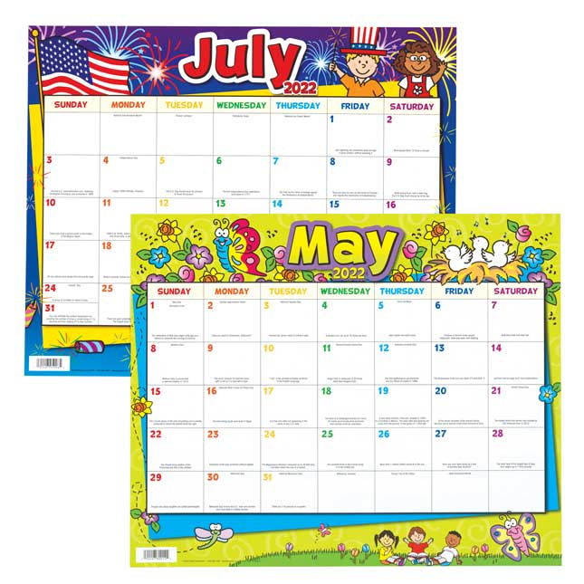Monthly Calendar Pages and Stickers 2021 2022 Primary