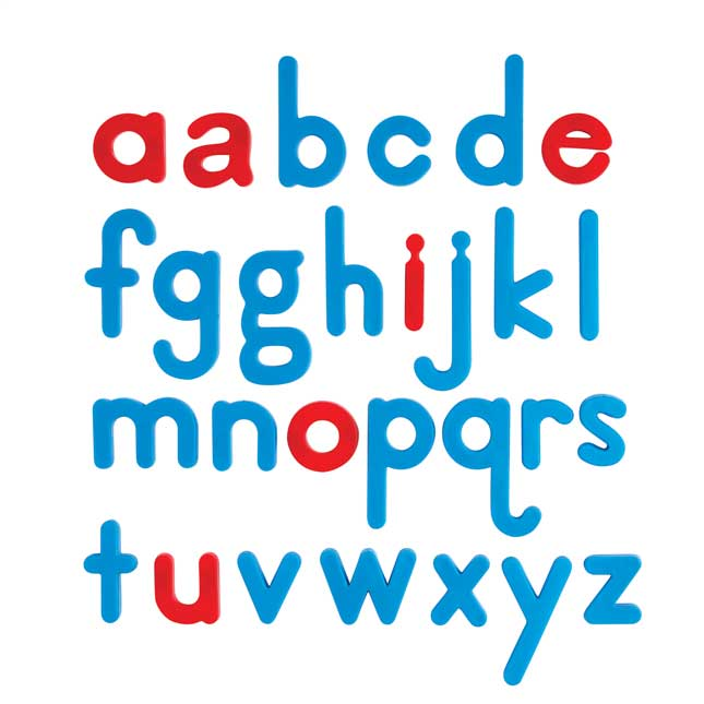 EZread Color-Coded Plastic Magnetic Letter Kits - 1,440 letters, 6 cases