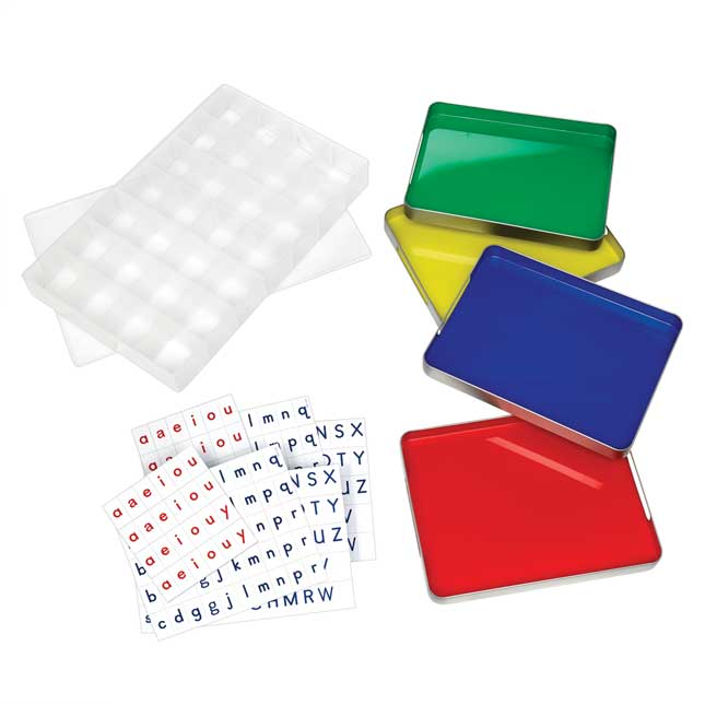 Magtivity Tins With Vinyl Magnetic Letters Classroom Kit