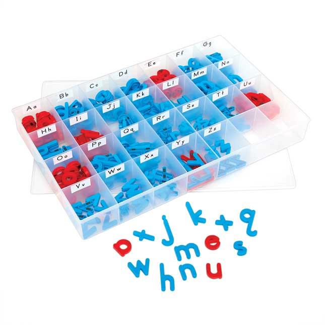 EZread Color-Coded Plastic Magnetic Letters Kit