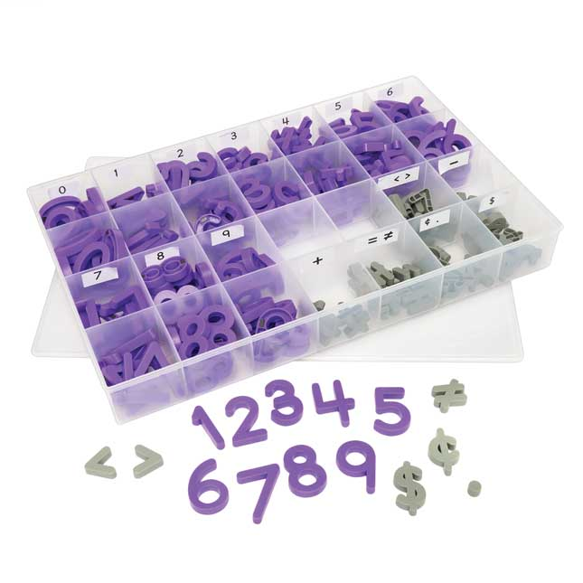 Plastic Magnetic Number and Symbols Kit