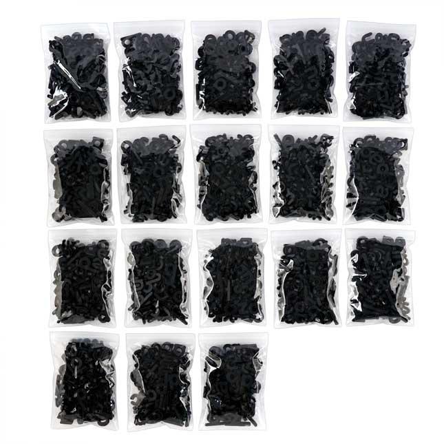 EZread Black Plastic Magnetic Letters - 6 Case Set