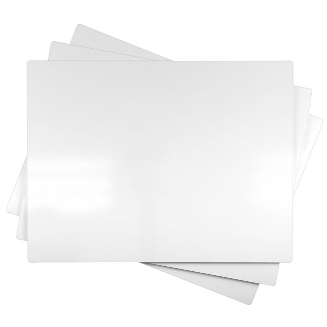 """18"""" x 24"""" Single-Sided Non-Magnetic Dry Erase Board - Set of 3"""