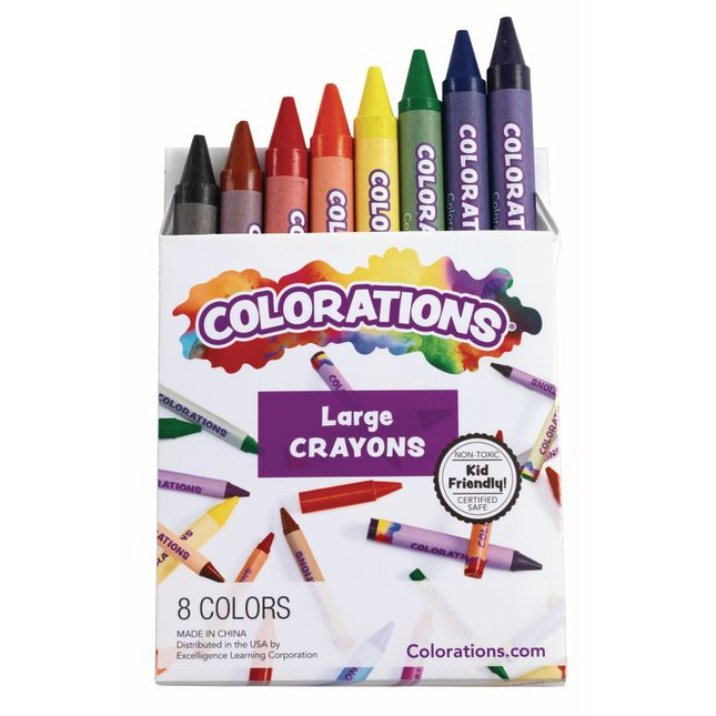 Colorations Large Crayons Set of 8