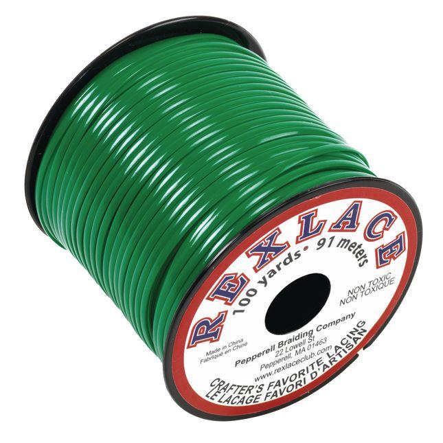 Green Rexlace Lacing Spool, 100 Yards