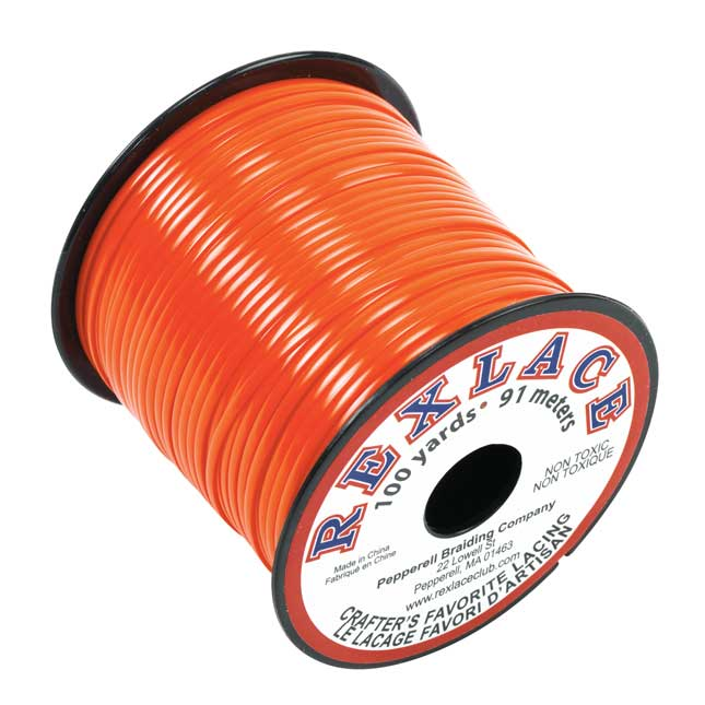 Orange Rexlace Lacing Spool  100 Yards