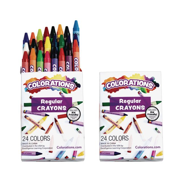 Colorations Crayons, 2 sets of 24, 48 total