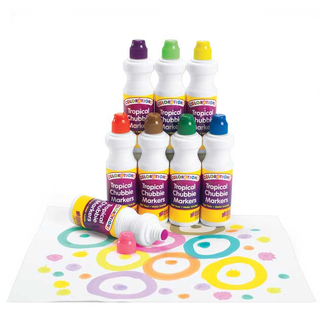 Colorations Tropical Chubbie Markers Set of 8