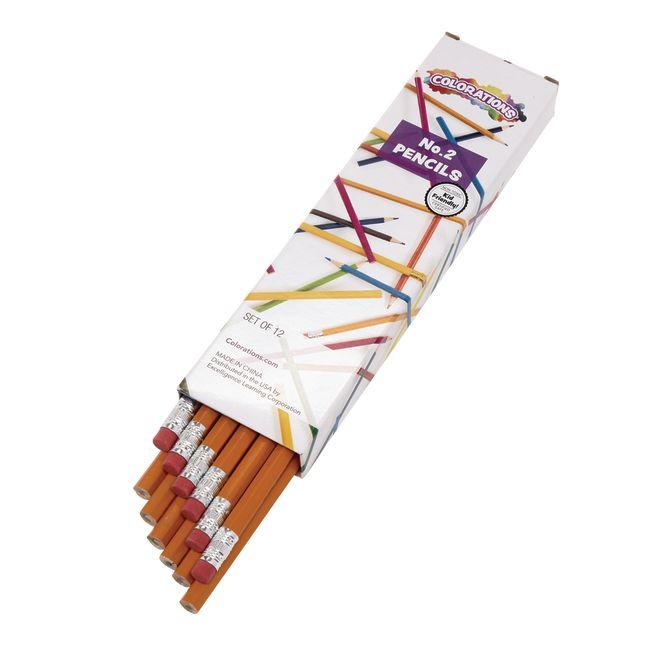 Colorations No.2 Pencils - Set of 12_0