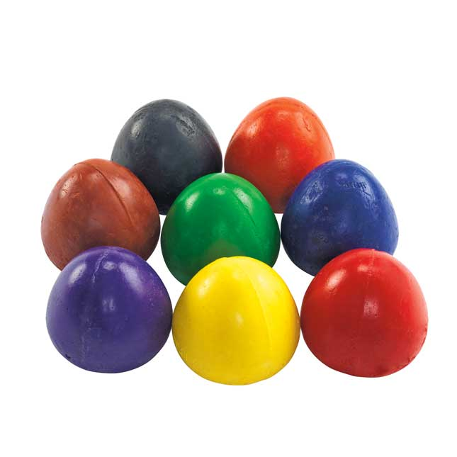 Colorations Chubby Crayon Eggs Set of 8