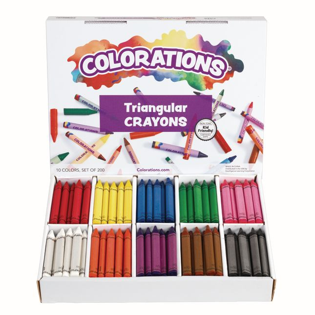 Colorations Large Triangular Crayon Classpack - Set of 200