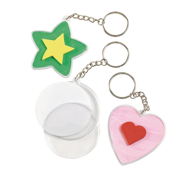 Colorations Create Your Own Keychains  Set of 12
